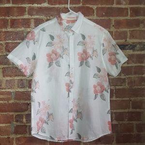 Denim & Flower linen button down shirt